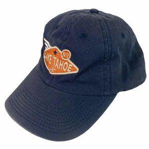 Vintage Lake Tahoe Mens Blue Snapback Hat Cap
